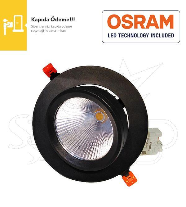 30 Watt Siyah Kasa Osram LED Salyangoz Armatür