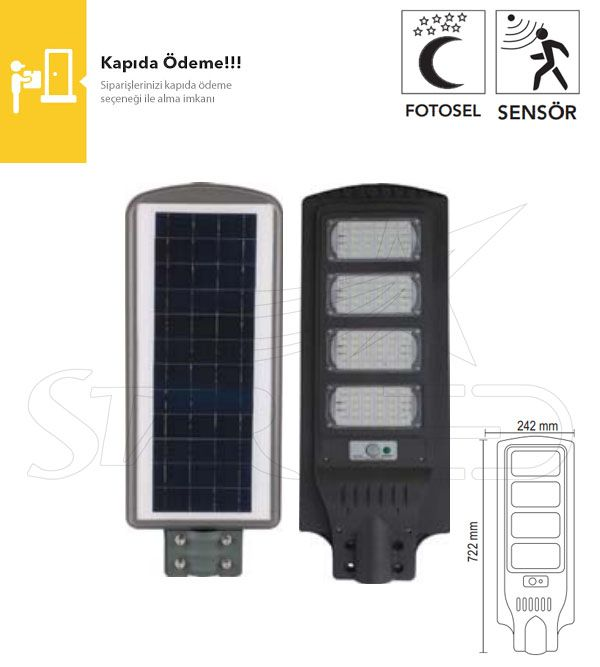 120 Watt Güneş Enerjili LED Projektör