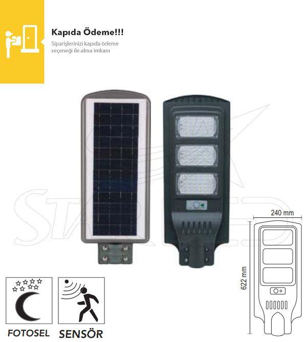 90 Watt Güneş Enerjili LED Projektör