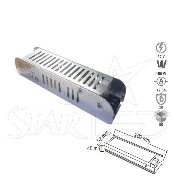 12 Volt 12.5 Amper LED Trafosu