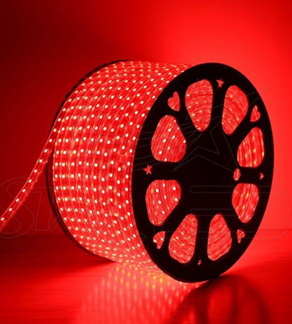 5050 ÜÇ ÇİPLİ 220 VOLT KIRMIZI ŞERİT LED