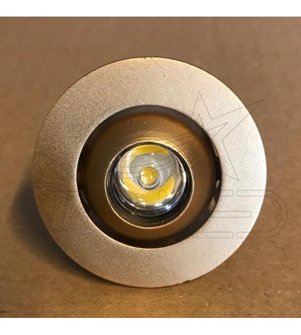 Gold Kasa 1 Watt Manda Gözü LED Spot