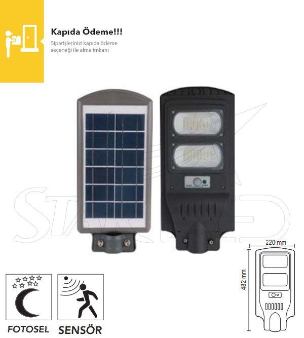 60 Watt Güneş Enerjili LED Projektör