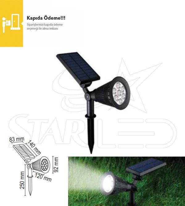 7 Watt Güneş Enerjili Bahçe Aydinlatma