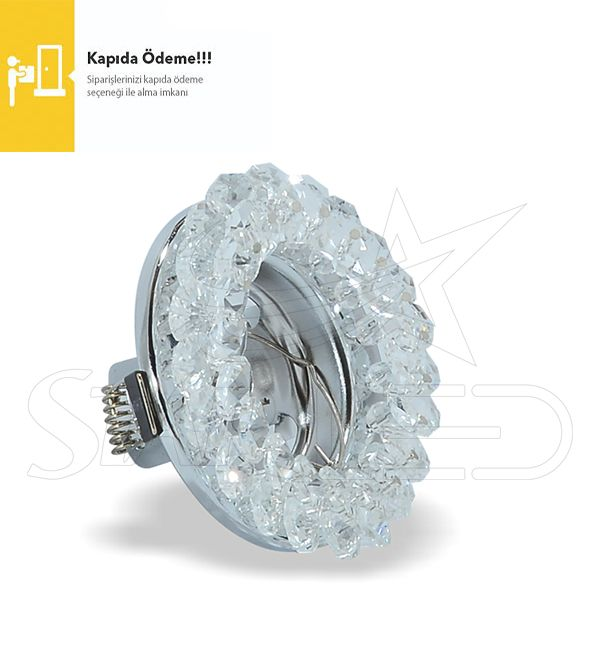 Nergis Gümüş Kristal Cam Spot