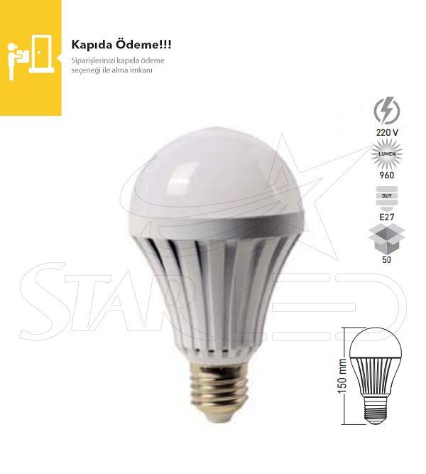 12 Watt E27 Duy Şarjlı LED Ampul