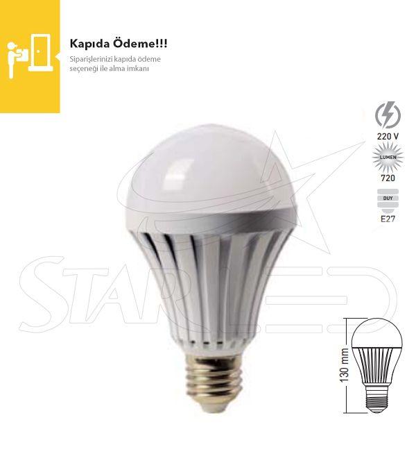 7 Watt E27 Duy Şarjlı LED Ampul
