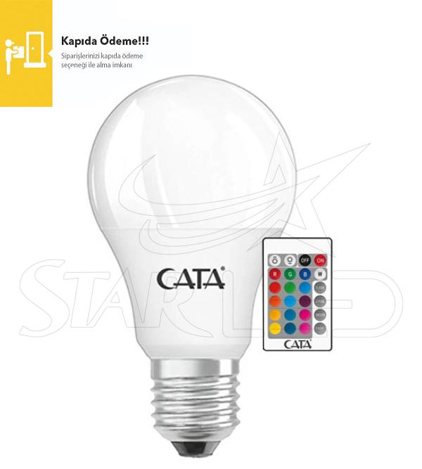 9 Watt E27 Duy CATA RGB LED Ampul