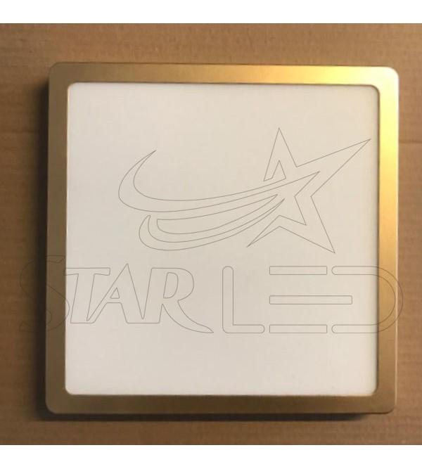 24 Watt Sıva Üstü Kare Gold Kasa Panel LED