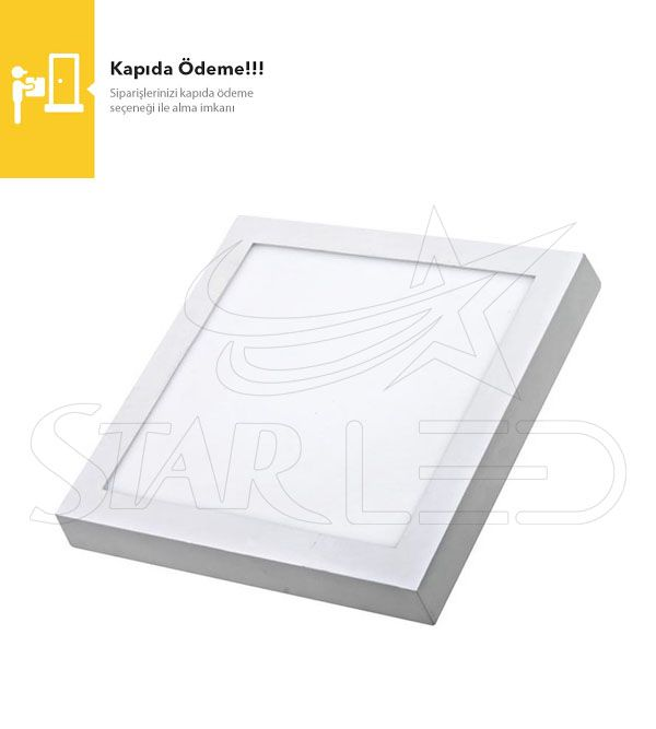 24 Watt Sıva Üstü Kare Panel LED