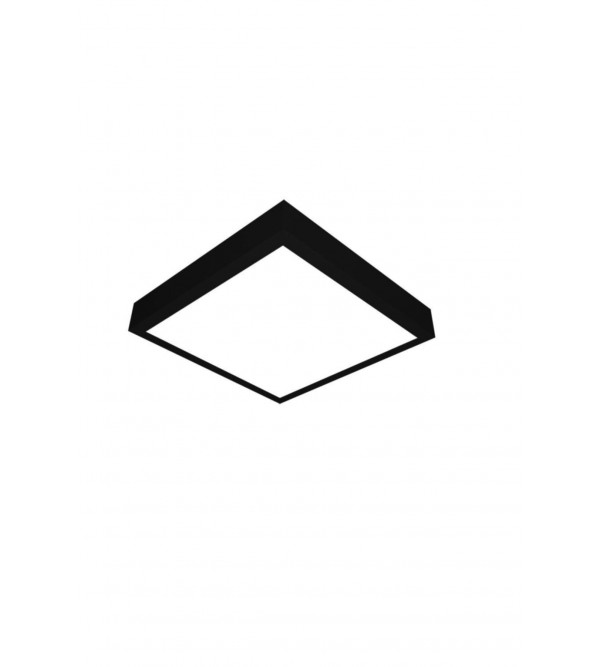 24 Watt Sıva Üstü Siyah Kasa Kare Panel LED