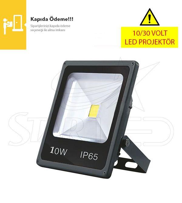 12/24 Volt 10 Watt LED Projektör