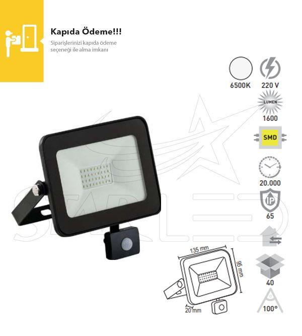 20 Watt Sensörlü LED Projektör