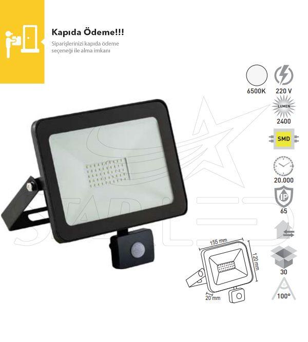 30 Watt Sensörlü LED Projektör