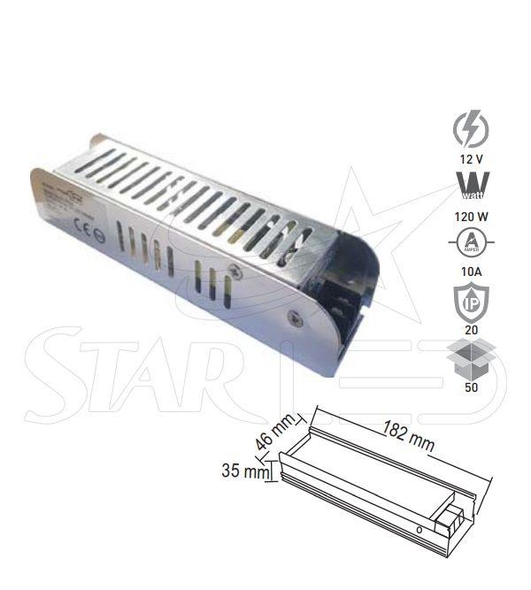 12 Volt 10 Amper LED Trafosu